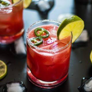 Spicy Watermelon Margarita.
