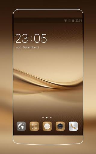 Theme for Huawei P8 & P10 Gold Wallpaper Icon Pack  screenshots 1
