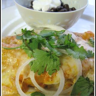 Chicken Enchiladas With Tomato Cream Sauce