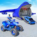 US Police ATV Quad Bike Plane Car Transport Games icon