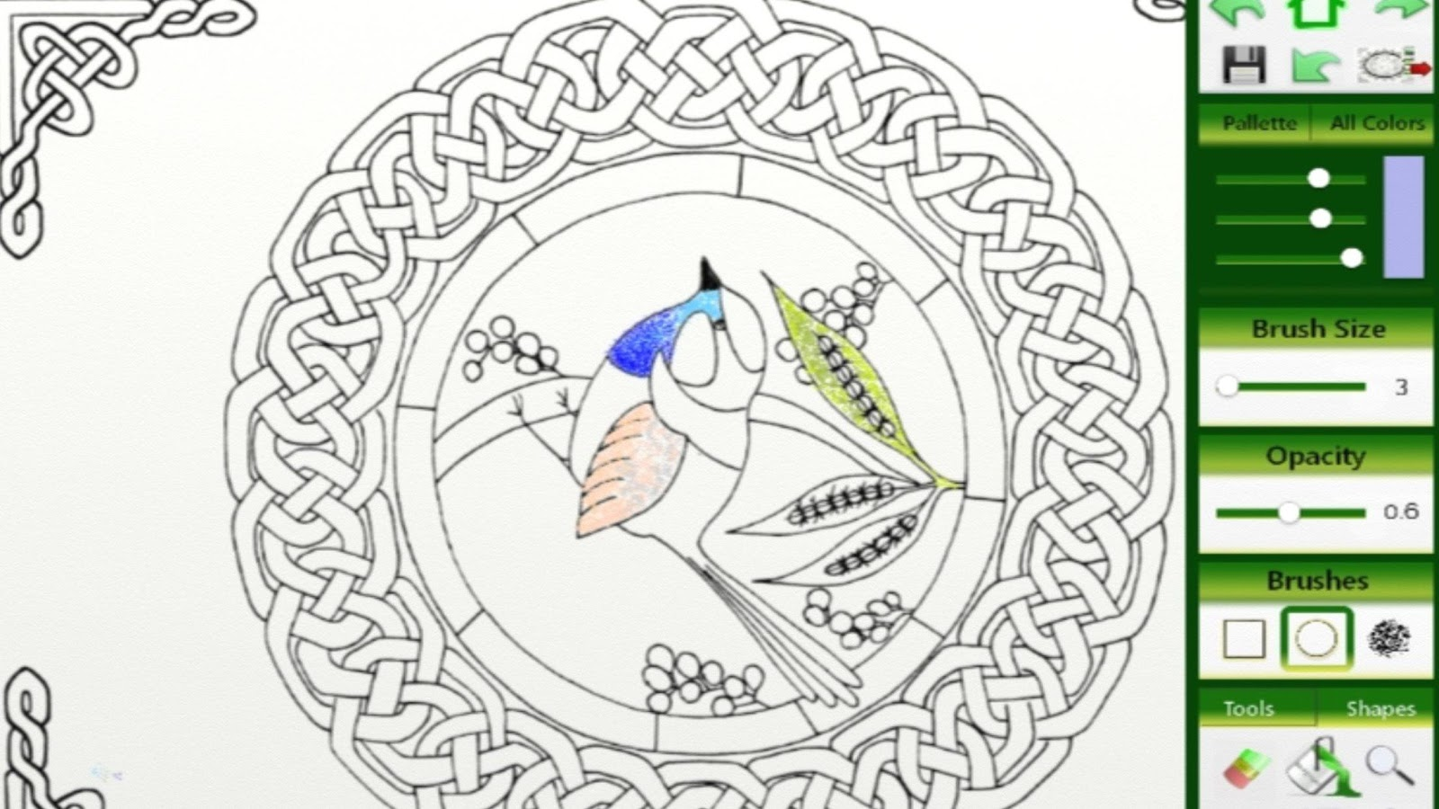 celtic knots coloring book screenshot - Celtic Coloring Book