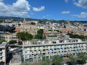 Photo: View of Messina, Sicily from the cruise ship