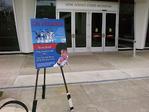 Photo: Exhibit Poster outside the State museum for the unvailing ceremony
