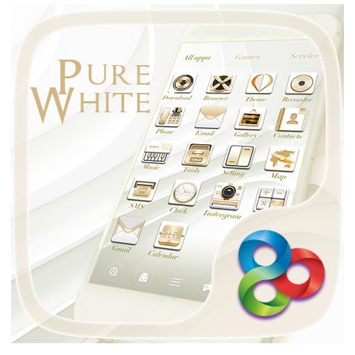 Pure Whitee Go Launcher Theme