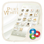Pure Whitee Go Launcher Theme
