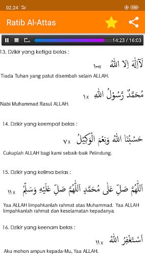 Ratib Al-Attas Lengkap - Terjemah & MP3 screenshot 9