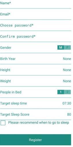 Интерфейс приложения Beurer SleepExpert