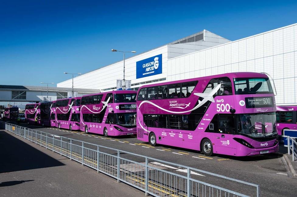 Jak dojechać z lotniska do centrum Glasgow, lotnisko Glasgow, autobusy