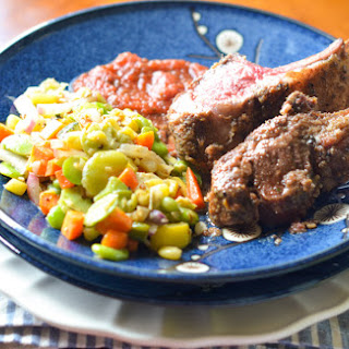 SPRING LAMB WITH FRESH SUCCOTASH