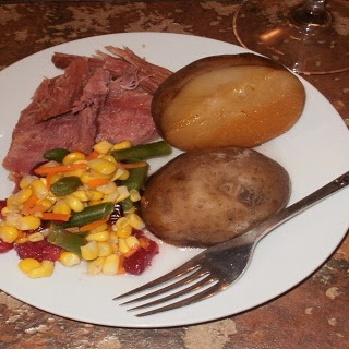 Crock-Pot Ham and Potatoes.