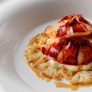 Poached Lobster Tail with Cauliflower and Butter Sauce Recipe