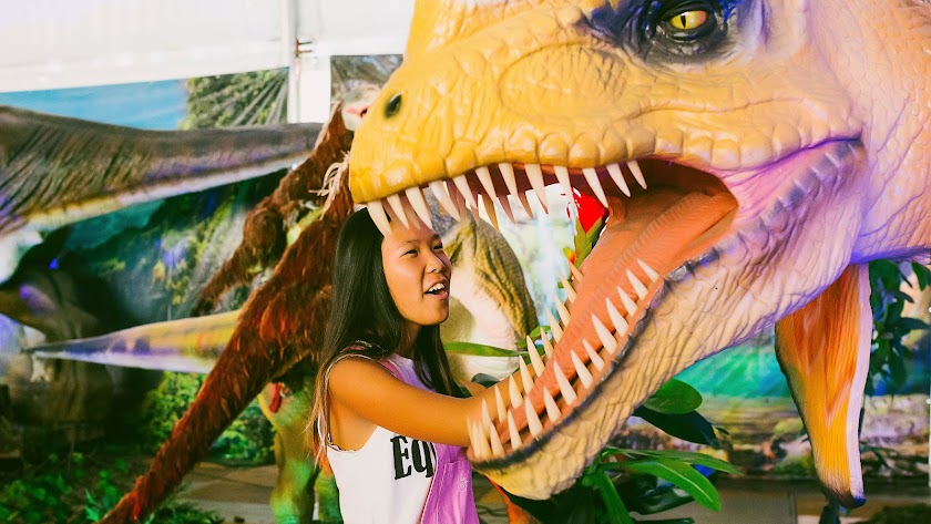 Dinosaurios animatrónicos en el Palacio de Congresos de Aguadulce del 10 al 25.