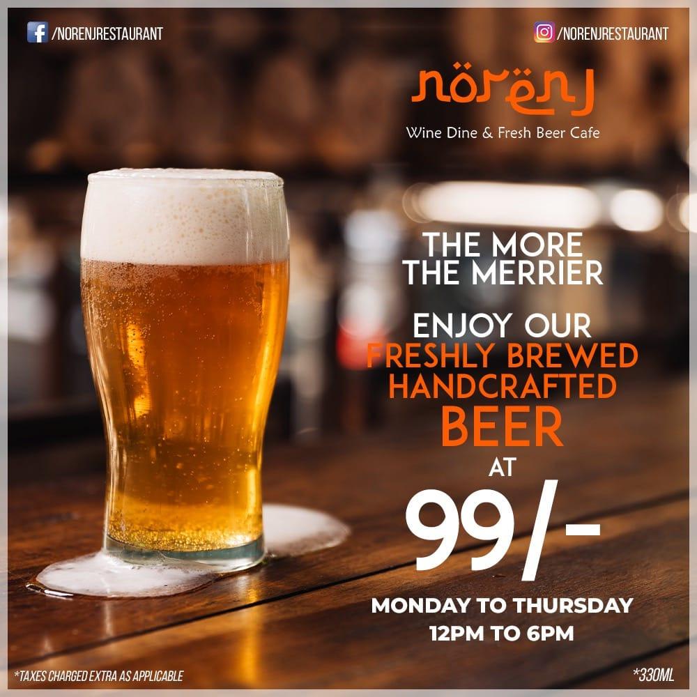 Norenj Wine Dine & Fresh Beer Cafe menu 1