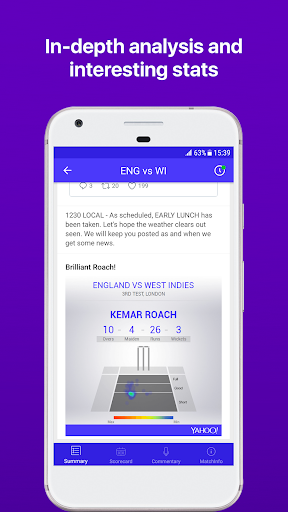 Yahoo Cricket App - Lightning Fast Scores 1.57 screenshots 2