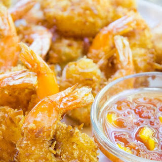Coconut Shrimp with Sweet Mango Habanero Dipping Sauce