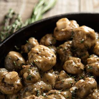 Creamy Garlic Mushrooms.