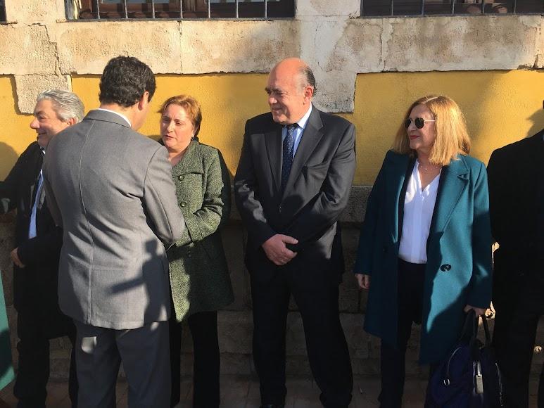 El presidente de la Junta, a su llegada al Varadero.