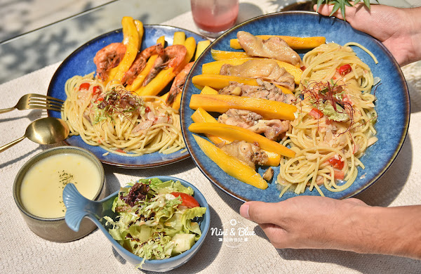 台中逢甲夜市美食 | 村口微光 義大利麵燉飯,季節限定推出芒果義大利麵~意外好吃喔!