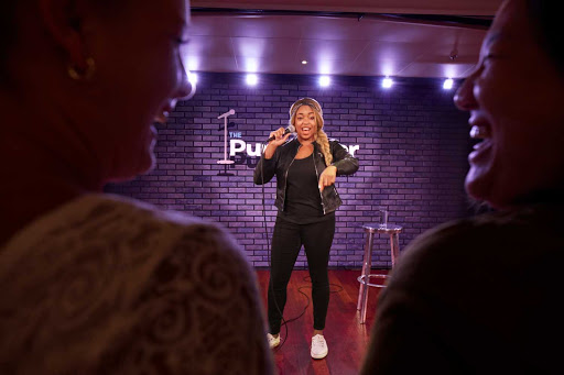 Choose your show and laugh out loud at Punchliner Comedy Club, one of the entertainment options during your Carnival sailing.
