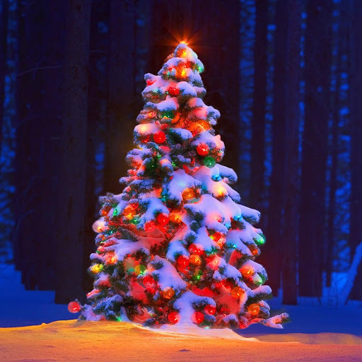クリスマスツリーライブ壁紙