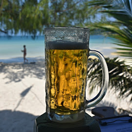Cold beer, hot weather, white beaches by Marcel Cintalan - Food & Drink Alcohol & Drinks ( alcohol, hot weather, beach, paradise, cambodia, beer )
