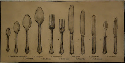 "Photo: Flatware, 15 x 22"", drypoint"