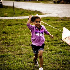 Flying a Kite by Jen Hamrick - Babies & Children Children Candids