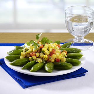 Sautéed Corn, Sugar Snap Peas and Bell Pepper