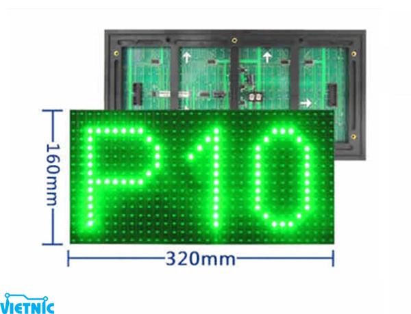 Led Module P10 - Xanh lá