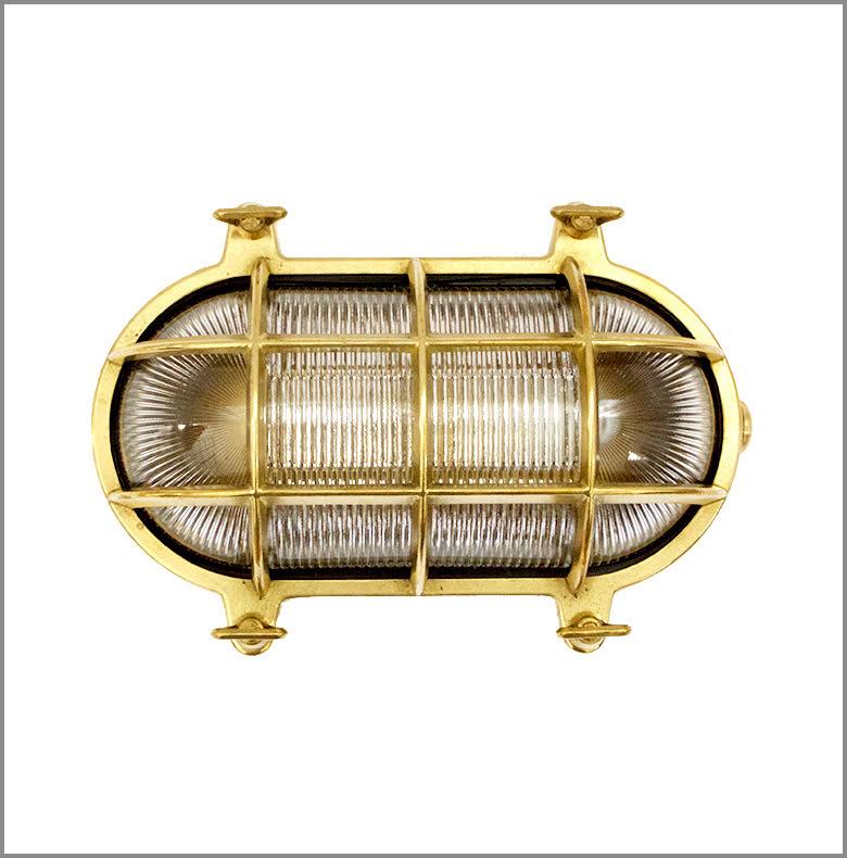 Gallerlampa oval stor mässing