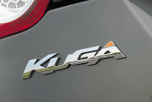 The rear Ford Kuga logo. File photo.