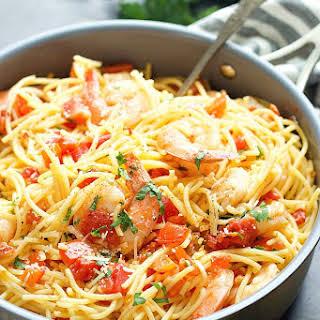 Shrimp Spaghetti Aglio & Olio.
