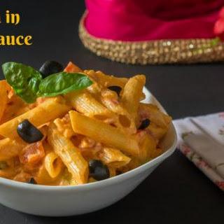 Vegetarian Pasta With Pink Sauce Recipes.