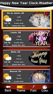 Happy New Year Clock-Weather - náhled