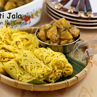 Roti Jala (Malaysian Net Crepes).