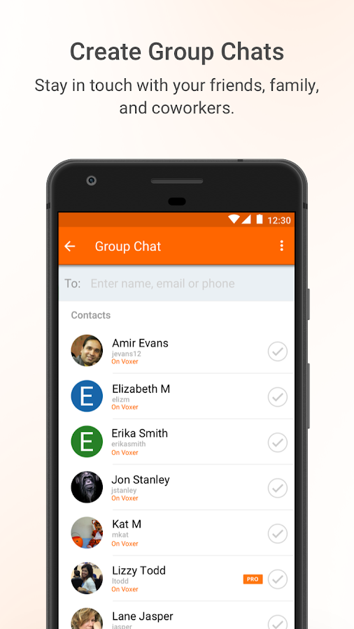 Voxer Walkie Talkie Messenger- screenshot