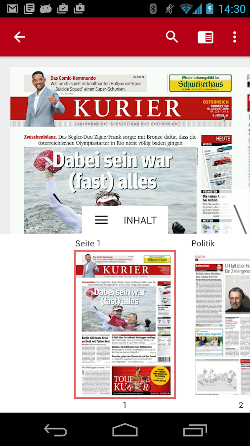 KURIER- screenshot