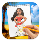 How to Draw Moana icon