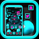 3D Cyan Ball and Cubes Launcher Theme Download on Windows