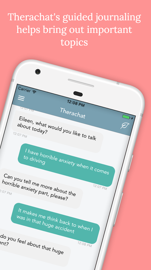 Therachat - Anxiety Management- screenshot