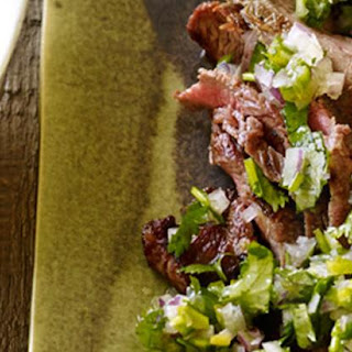 Cuban Flank Steak with Fresh Herb Sauce.