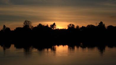 Photo: Sonnenuntergang über dem Dorf Großensee
