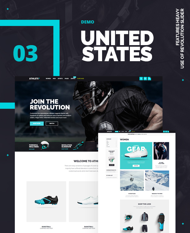 Magento clothing theme Athlete2