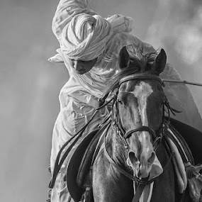 The Dude by Furrukh Shahzad - People Street & Candids ( rider, tent pegging, black and white, horse, candid, beauty,  )