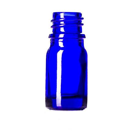 Glasflaska 5 ml - blå