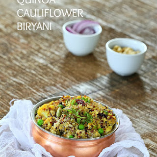 Quinoa Cauliflower Biryani. Vegan Glutenfree