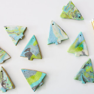 Marbled Salt Dough Ornaments.