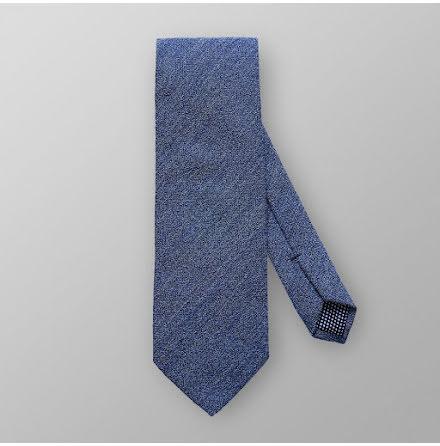 ETON marinblå enfärgad slips ull och viskos