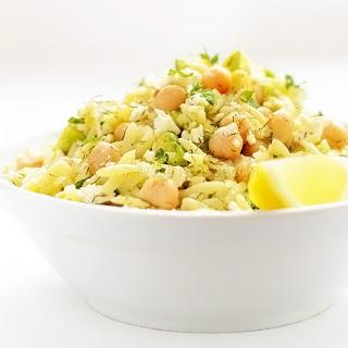 Chickpea Avocado Orzo Salad