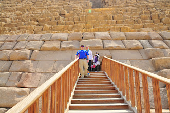 Photo: us coming out of Pyramid of Menkaure
